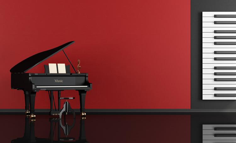 klavier kaufen rot
